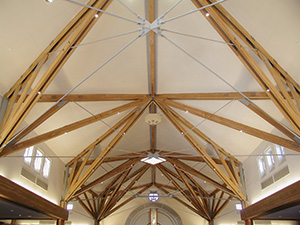 Glulam in St. Elizabeth Seton Catholic Church