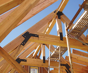Glulam used in Snowmass Transit Center