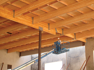 Glulam used in Ontario Training Center