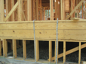 Wood stem wall foundation