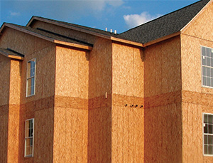 OSB wall sheathing
