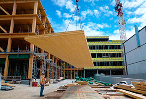 CLT used in nonresidential construction (photo courtesy of Structurlam Products, Ltd.)