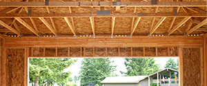 Glulam garage header