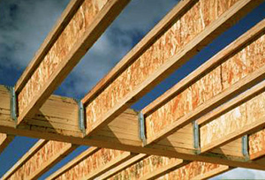 I-joist compatible glulam beams