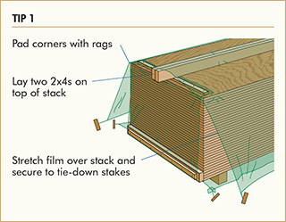 Tip 1: Protect siding on the job site