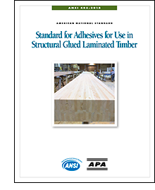 ANSI 405: Standard for Adhesives for Use in Structural Glued Laminated Timber