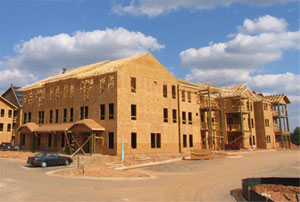 Structural sheathing provides wind resistance