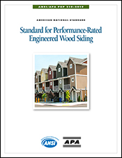 ANSI/APA PRP 210-2019: Standard for Performance-Rated Engineered Wood Siding