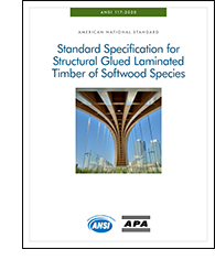 ANSI 117-2020: Standard Specification for Structural Glued Laminated Timber of Softwood Species