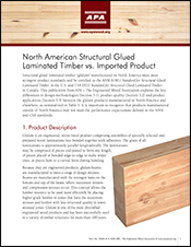North American Structural Glued Laminated Timber vs. Imported Product
