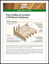 Builder Tips: Proper Selection and Installation of APA Plywood Underlayment