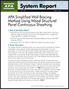 APA System Report 102: APA Simplified Wall Bracing Method