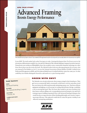 Case Study: Advanced Framing Boosts Energy Performance
