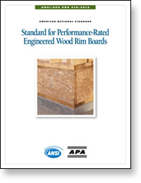 ANSI/APA PRR 410-2016: Standard for Performance Rated Engineered Wood Rim Boards