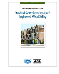ANSI/APA PRP 210-2019, Standard for Performance-Rated Engineered Wood Siding