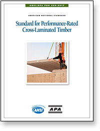 ANSI/APA PRG 320: Standard for Performance Rated Cross-Laminated Timber