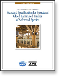 ANSI 117: Standard Specifications for Structural Glued Laminated Timber of Softwood Species