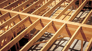 Glulam floor beam