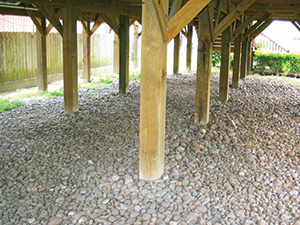 Wood pile and pier foundation