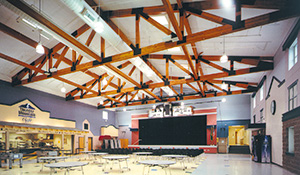 Glulam in Thunder Mountain Middle School