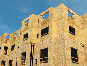 OSB used in commercial construction