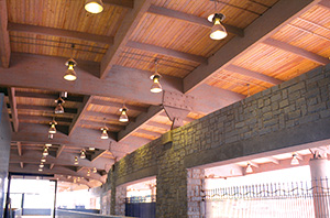 Glulam used in Indian Creek Transit Station
