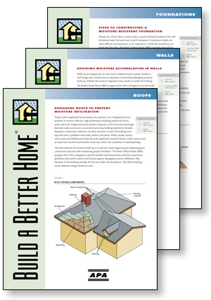 Build A Better Home brochures