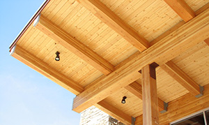 Cantilevered Glulam