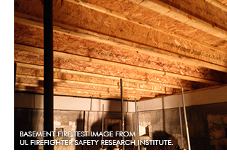 I-joist fire test conducted by UL Fire Safety Research Institute