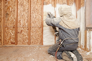 OSB and plywood provide a solid backing for insulation