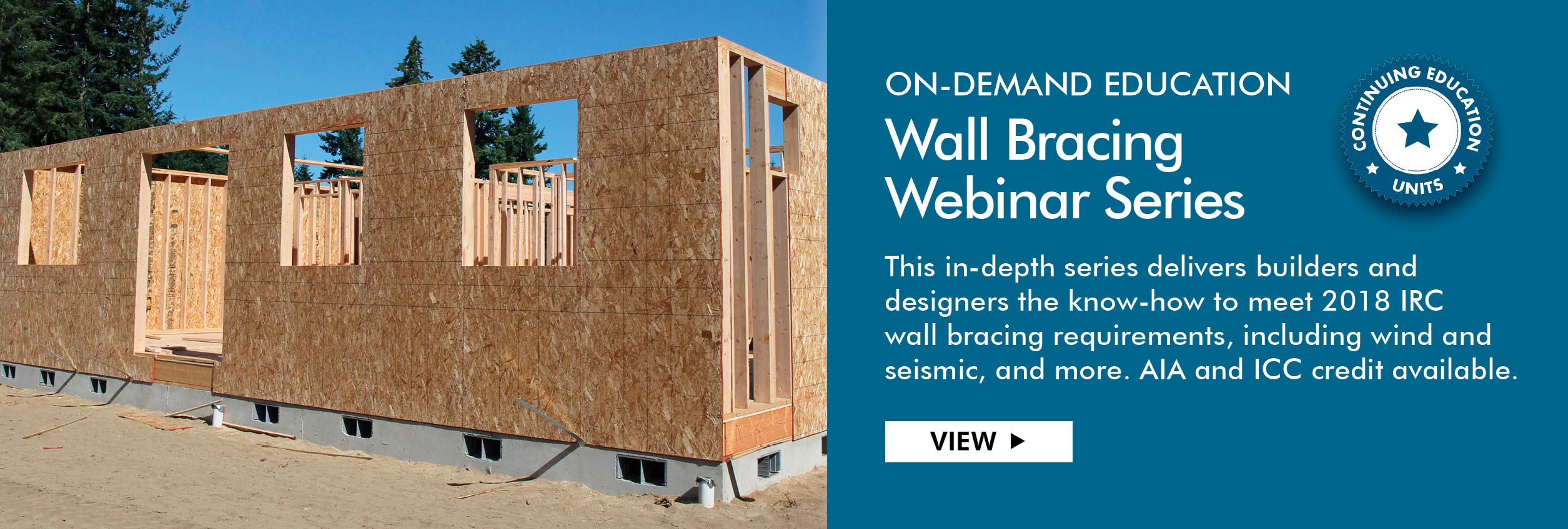 2018 IRC Wall Bracing Webinar Series, ICC and AIA approved