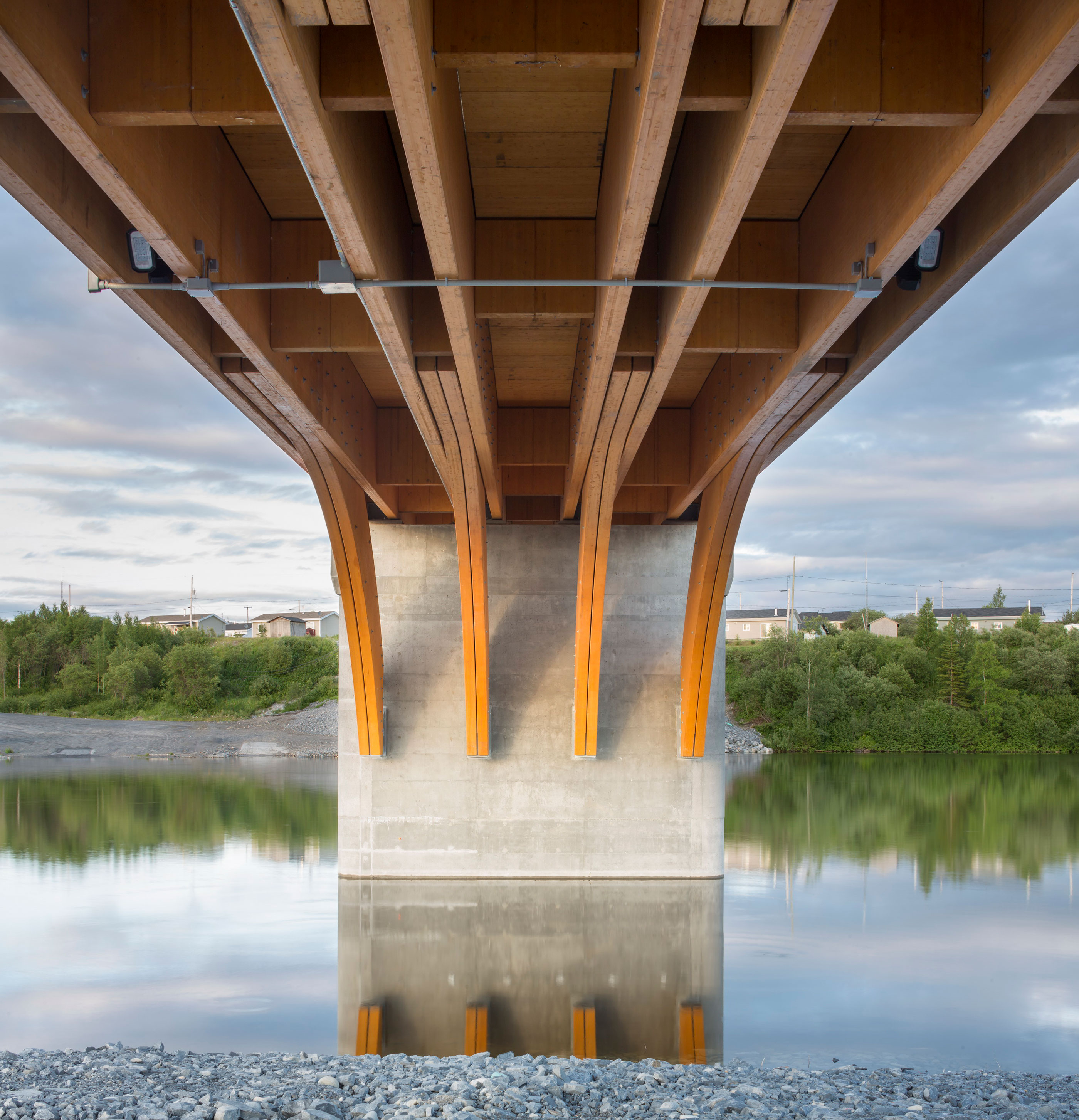 Mistissini Bridge, view from below. Image courtesy Stantec.