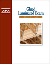 Glued Laminated Beam Design Tables