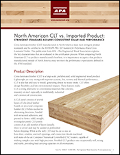 Cross-Laminated Timber: North American CLT vs. Imported Product