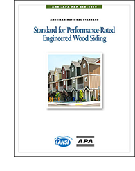 ANSI/APA PRP 210: Standard for Performance Rated Engineered Wood Siding