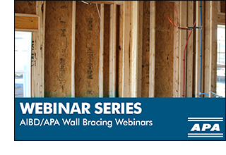 Wall Bracing Webinar Series