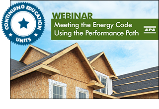 Meeting the Energy Code Using the Performance Path