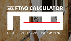 APA Force Transfer Around Openings Calculator