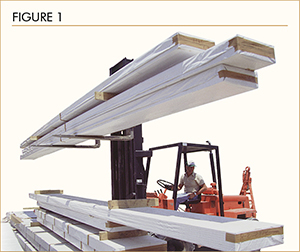 Figure 1: Loading and Unloading Glulam Beams