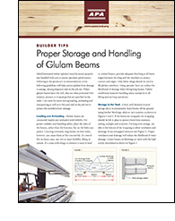 Builder Tips: Proper Storage and Handling of Glulam Beams