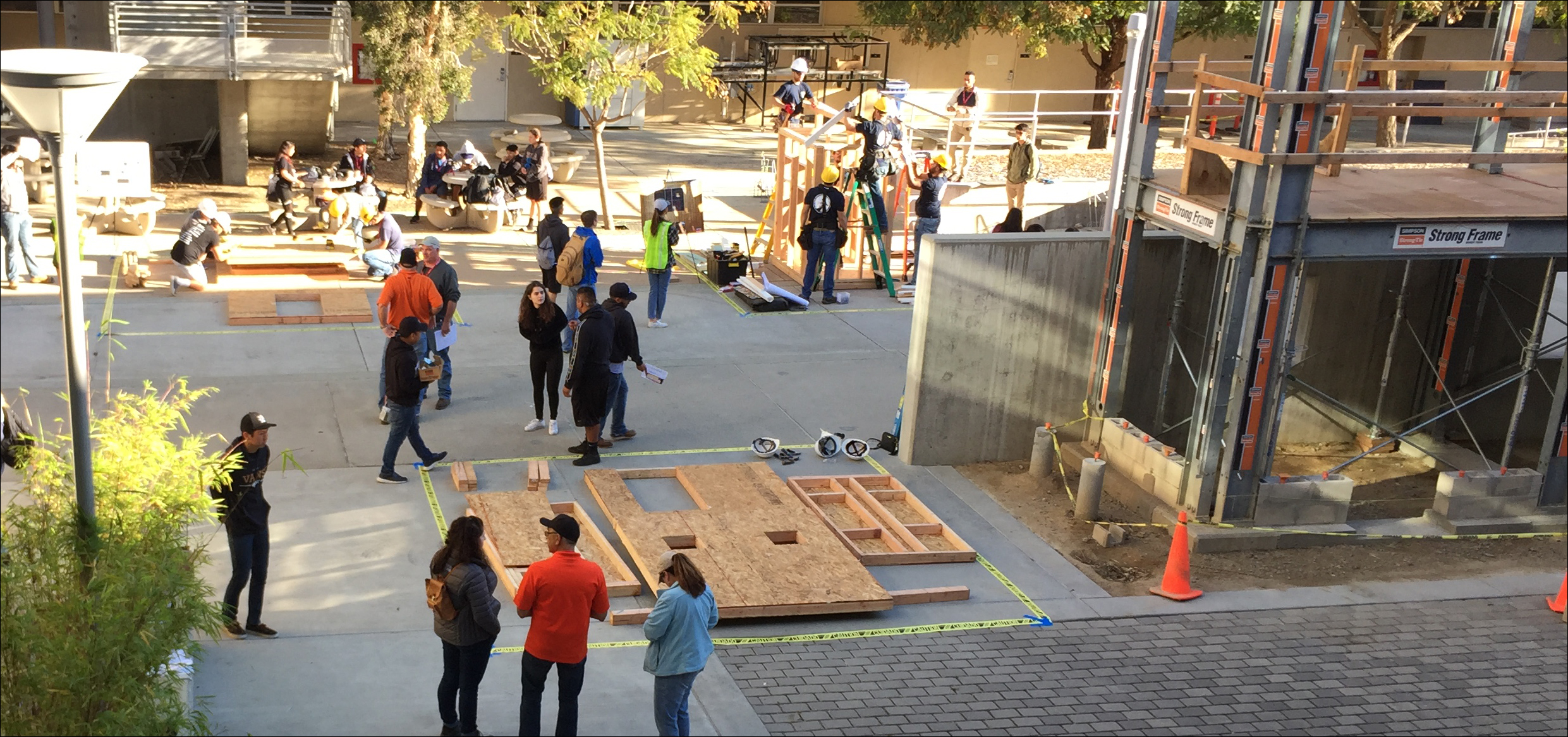 Timber-Strong Design Build Competition at Cal Poly, SLO, April 2019