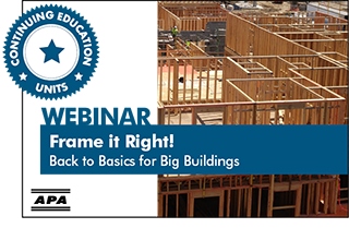 Frame it right! Back to basics for big buildings