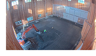 Excavation for the strong floor in the APA Research Center